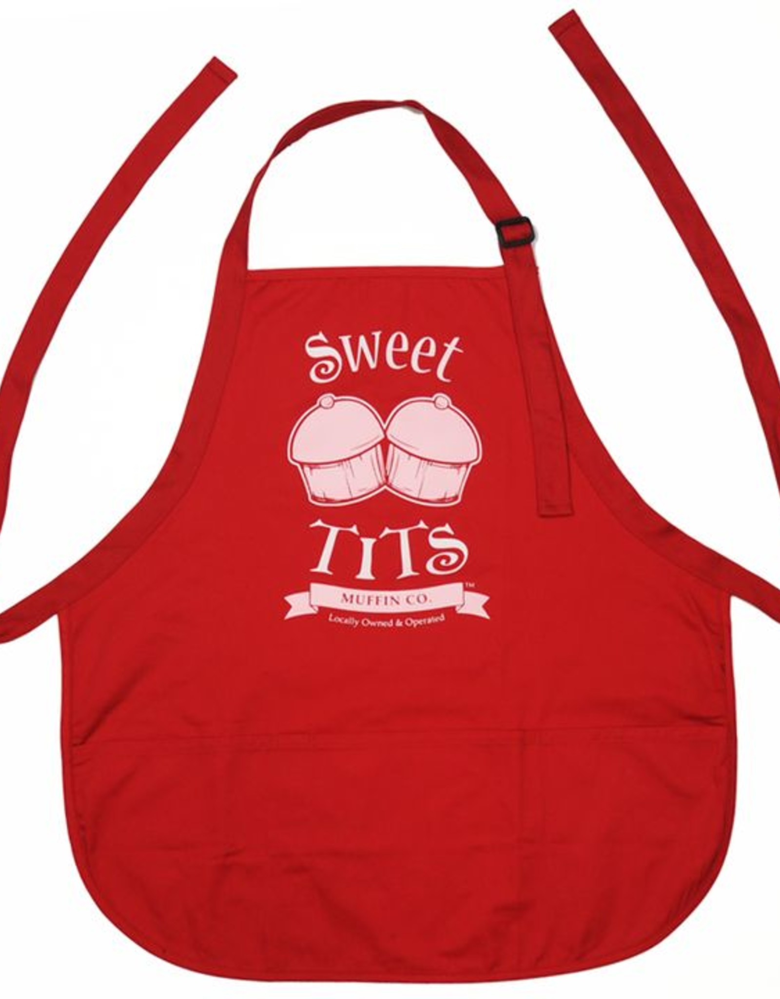 Sweet Tits Muffin Co. Apron (red)