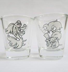 1 Fish, 2 Fish Shot Glass Set