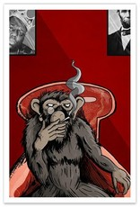 Smoking Monkey - 8x12 Print