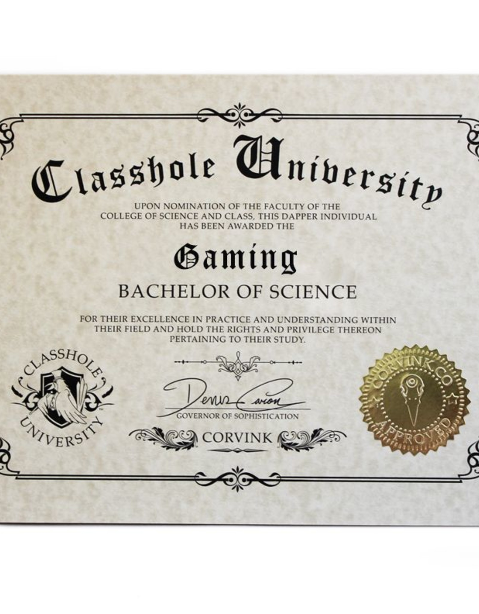Classhole University BS Diplomas - Gaming