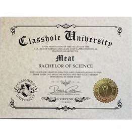 Classhole University BS Diplomas - Meat
