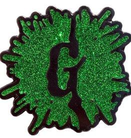 Goosebumps Green Glitter G Splat Enamel Pin