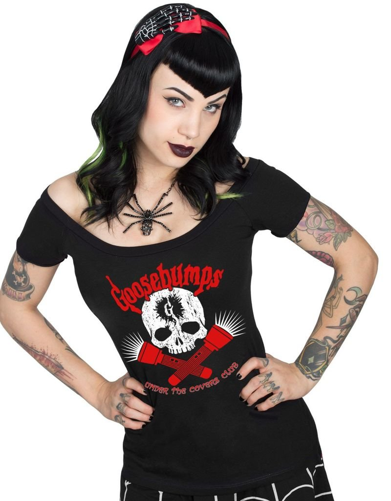 Goosebumps Under the Covers Club Shoulder Tee