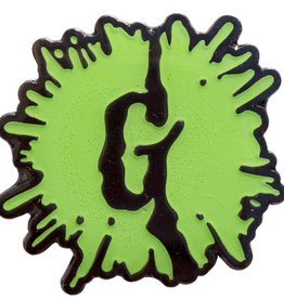Goosebumps Green Glow G Splat Enamel Pin