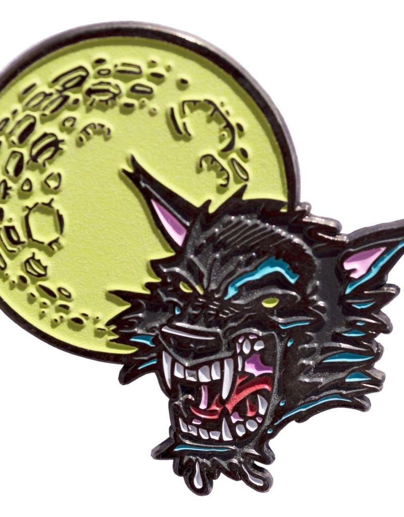 Goosebumps Moon Wolf Enamel Pin
