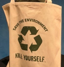 Save The Environment, Kill Yourself - Tote - Tan Version