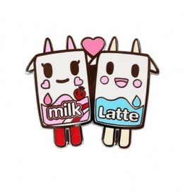 Tokidoki - Latte & Strawberry Milk Enamel Pin