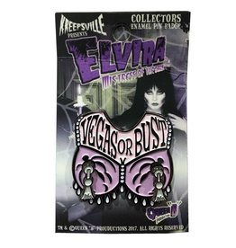 Elvira Vegas or Bust Spinner Enamel Pin