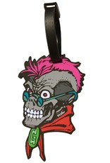 Goosebumps Curly Skull Luggage Tag
