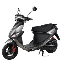 Genuine Scooters 2018 Gloss Titanium Genuine Buddy 50cc Moped (#30)