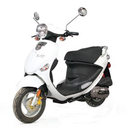 Genuine Scooters 2018 White Genuine Buddy 50cc Moped (#50)