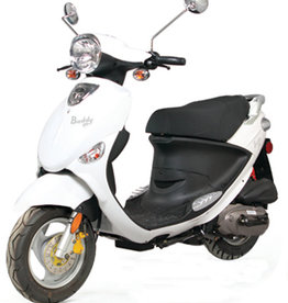 Genuine Scooters 2018 White Genuine Buddy 50cc Moped (#54)