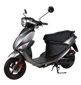 Genuine Scooters 2019 Gloss Titanium Genuine Buddy 50cc Moped (#67)