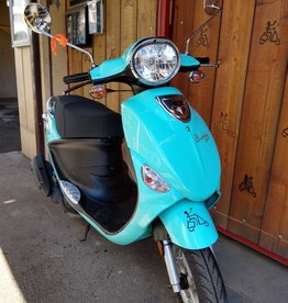 Genuine Scooters 2019 Turquoise Genuine Buddy 50cc Moped (#97)
