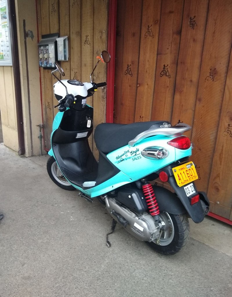 Genuine Scooters 2019 Turquoise Genuine Buddy 50cc Moped (#02)