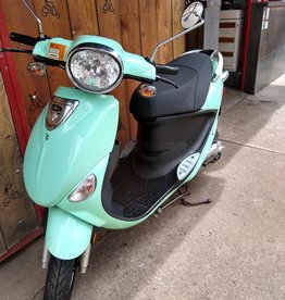 Genuine Scooters 2018 Seafoam Genuine Buddy 50cc Moped (#04)