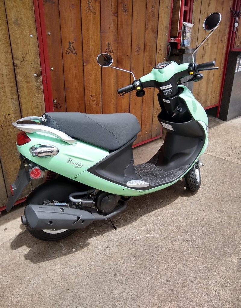 Genuine Scooters 2020 Seafoam Genuine Buddy 50cc Moped