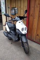 Genuine Scooters 2020 White Genuine Roughhouse 50cc Moped