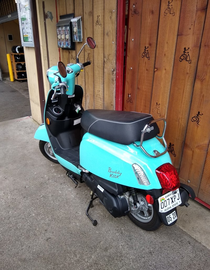 Genuine Scooters 2020 Turquoise Buddy Kick 125cc Scooter