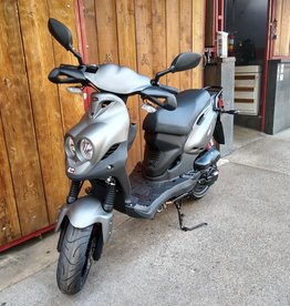 Genuine Scooters 2021 Matte Titanium Genuine Roughhouse Sport 50cc Moped
