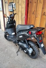 Genuine Scooters 2021 Matte Black Genuine Roughhouse 50cc Moped