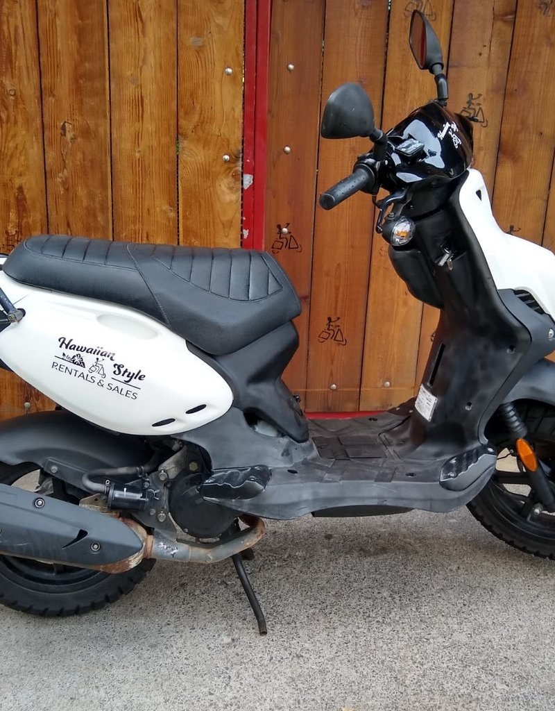 Genuine Scooters 2019 White Genuine Roughhouse 50cc Moped (#R-26)