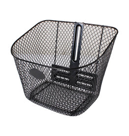 Genuine Scooters Front Basket; Genuine Buddy - Black