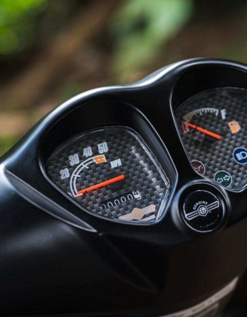 Genuine Scooters 2021 Matte Black Genuine Roughhouse Sport 50cc Moped