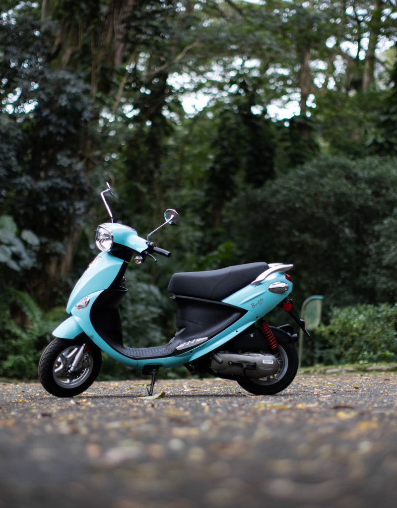 Genuine Scooters 2021 Turquoise Genuine Buddy 50cc Moped