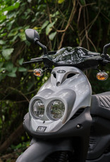 Genuine Scooters 2021 Silver Genuine Roughhouse 50cc Moped