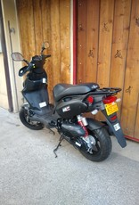 Genuine Scooters 2019 Matte Black Genuine Roughhouse Sport 50cc Moped (BF with Lock)