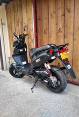 Genuine Scooters 2018 Matte Black Roughhouse Sport 50cc Moped ( LX-9 B.B)
