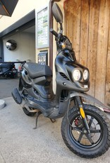 Genuine Scooters 2018 Matte Black Genuine Roughhouse 50cc Moped (#4829)
