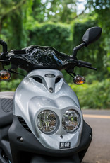 Genuine Scooters 2022 Silver Genuine Roughhouse 50cc Moped