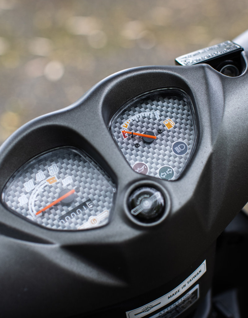 Genuine Scooters 2022 Matte Titanium Genuine Roughhouse Sport 50cc Moped