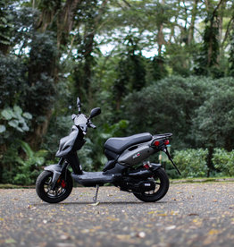 Genuine Scooters 2022 Matte Titanium Genuine Roughhouse Sport 50cc Moped