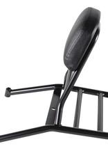 Scooter Works Prima Rear Rack with Backrest (Black)