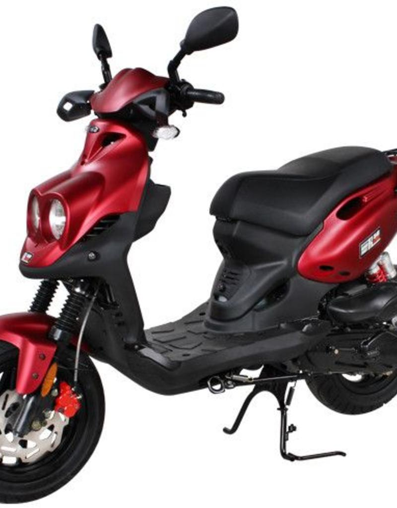 Genuine Scooters 2019 Matte Red Genuine Roughhouse Sport 50cc Moped