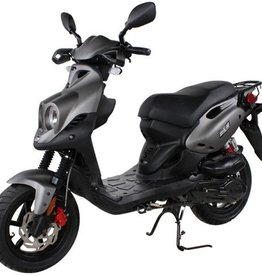 Genuine Scooters 2019 Matte Titanium Genuine Roughhouse Sport 50cc Moped