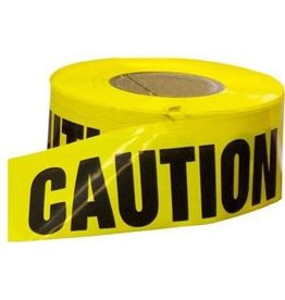 "CleanHub Yellow Caution Barricade Tape 3"" x 1000'"