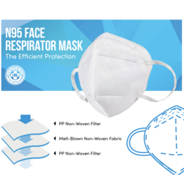CleanHub Face Mask N95, Case 10 Pack