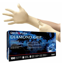 CleanHub Diamond Grip Latex Gloves, Large (100 Pack)