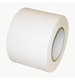 "CleanHub Poly Tape, White 4"" Pinked Edge, Each"