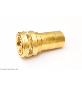 "FOSTERS QD Female BRASS - 3/8"" FPT - MADE IN USA (Mate to QD45)"