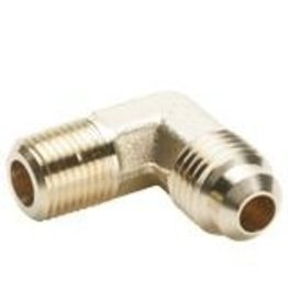 Parker Brass - ELBOW 90DEG 1/4 X 1/4 - MPT X PIPE MALE FLARE