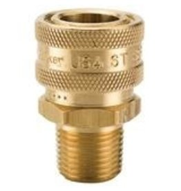 "Parker SOCKET - FEMALE FLOW THROUGH QD 1/4"" MPT BRASS"