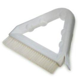 CleanHub Brush - Grout W/Scraper - Triangle Handle