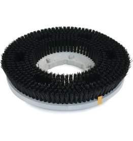 "CleanHub Nylon Carpet Cleaning Brush 17"" - Medium Black (.22)"