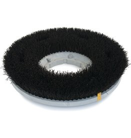 "CleanHub General Scrubbing Brush 15"" - Black Poly"