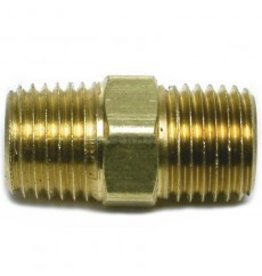"Parker Brass - 1/4"" HEX NIPPLE"